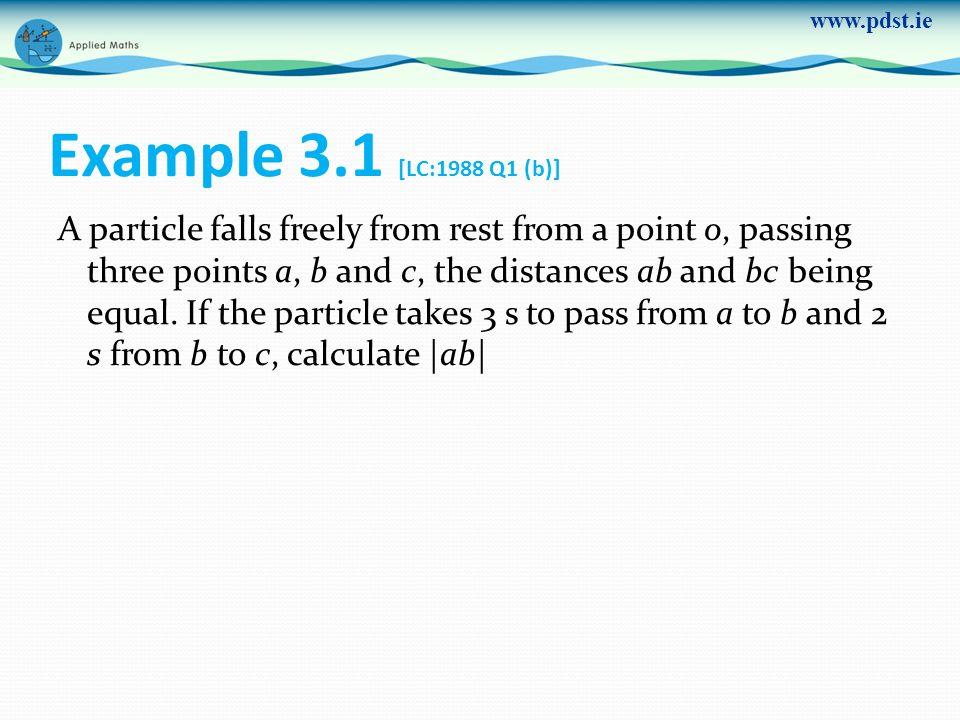 Example 3.1 [LC:1988 Q1 (b)]